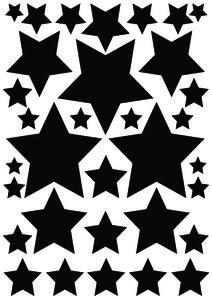 Autostickers sterren zwart