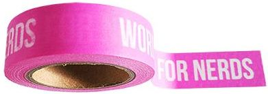 Studio Stationery Washi tape felroze Words are for nerds