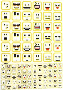 Fietsstickers Emoji's digital