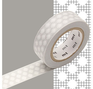 MT Masking tape ruitjes en stippen grijs
